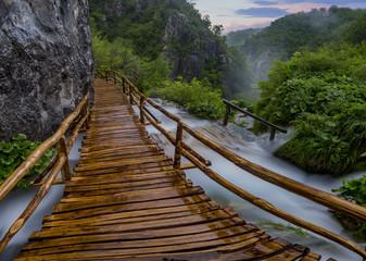 FototapetaPlitvice National park, Croatia.