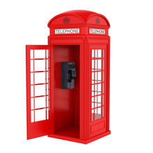 British Red Telephone Booth Wi...