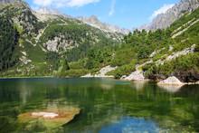 Poprad Lake In High Tatras Mou...