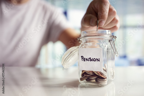 Fotomural  Saving and pension planning