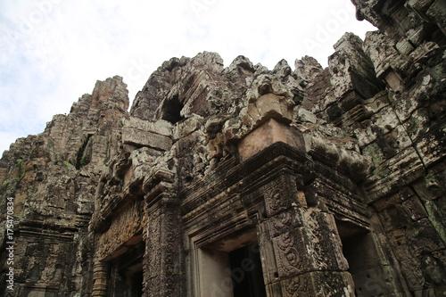 Photo Stands Ruins Angkor Wat Ruins