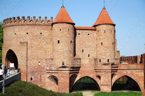 Plakat Forteca barbacan starego miasta w Warszawie