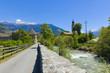 Südtirol- Impressionen, Altstadt, Glurns im Vinschgau, (Stadtmauer)