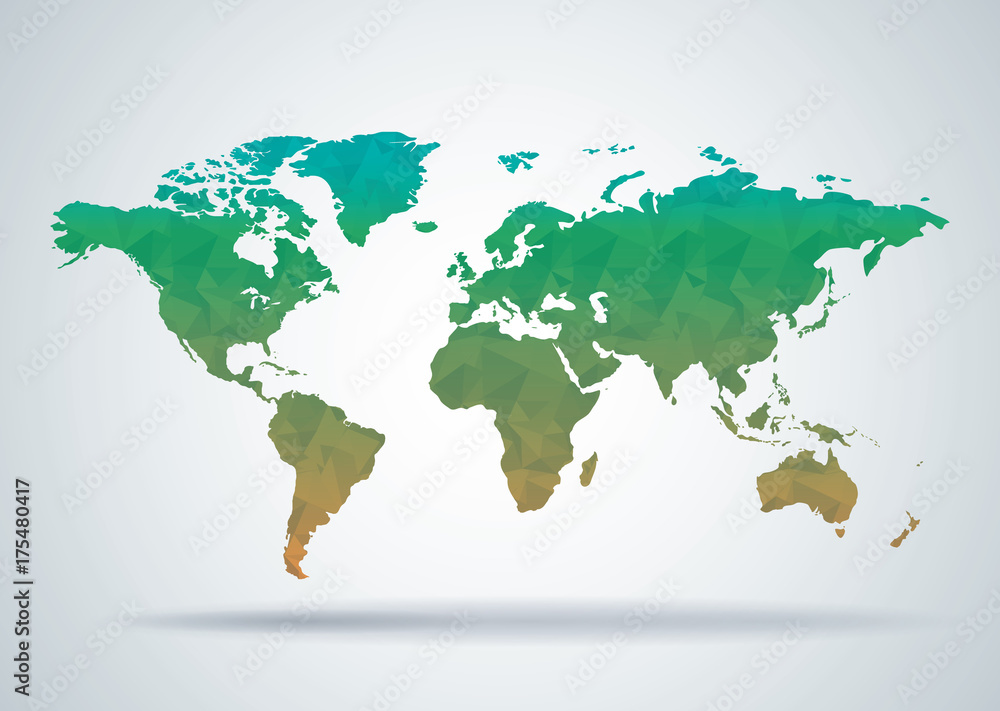 world map polygonal style background print ready design pster world map polygonal style background print ready design pster lmina compra en europosters gumiabroncs Choice Image