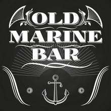 Old Marine Bar Label Or Banner...