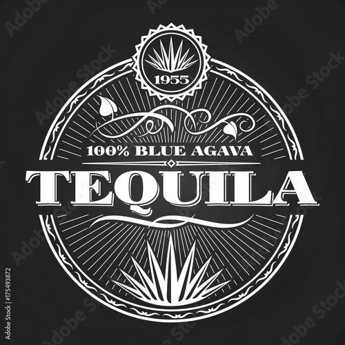 Obraz na płótnie Vintage tequila banner design on chalkboard