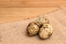 Group Of Quail Egg Close Up On...