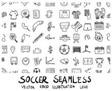 Soccer Doodle Sketch Backgroun...
