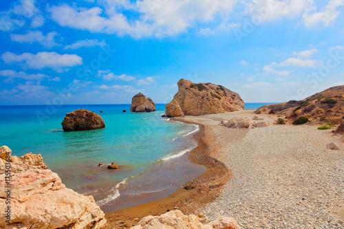 Ingelijste posters Cyprus Aphrodite Bucht,Zypern