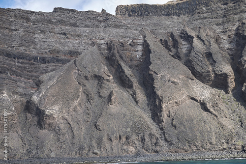 Tuinposter Canarische Eilanden Lanzarote, Spain - August 26, 2015 : View of lanzarote cliffs from the boat