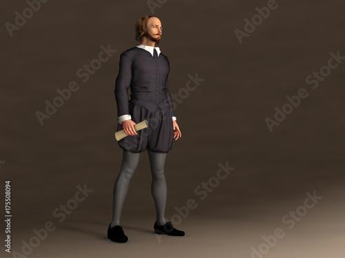 Fotografie, Obraz  Ilustración de William Shakespeare