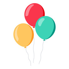 Bunch Of Balloons In Cartoon F...