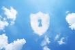 Leinwandbild Motiv Security cloud form on sky.