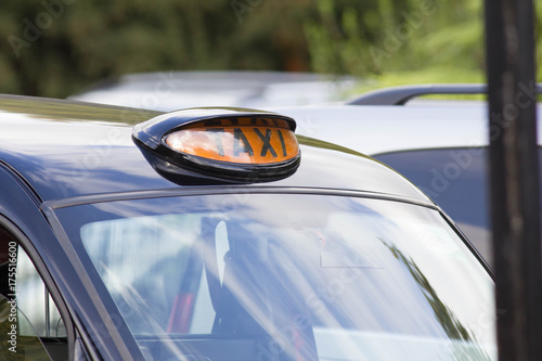 Zdjęcie XXL Taxi gign na brytyjskiej London czerni taxi taksówce