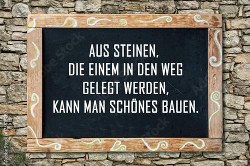 Photo Businessspruch 002 - Aus Steinen