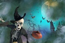 3D Illustration Of A Halloween...