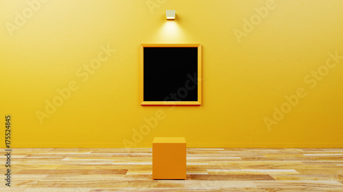 Empty museum with customizable copy space Canvas Print