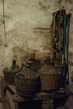 Old Cellar With Demijohns