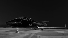 Business Jet. Plane Is Parked
