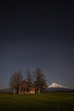 Mount Shasta And A Cabin