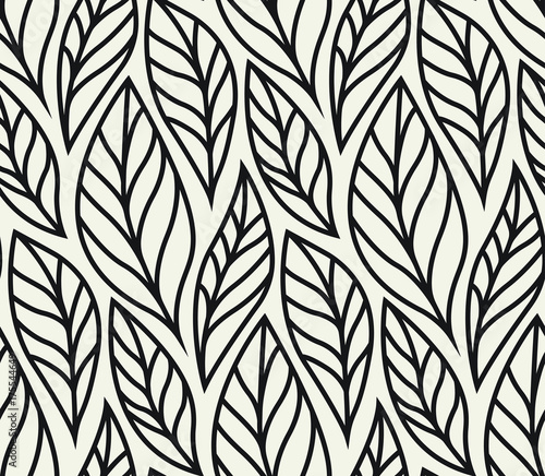 Fototapety, obrazy: Vector illustration of leaves seamless pattern