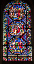 Stained Glass Window In A Church