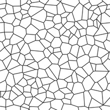 Seamless Vector Background From Cells. Irregular Mosaic Backdrop. Voronoi Pattern