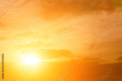 mata magnetyczna The sky Evening sunlight hot zone for background in design and abstract.