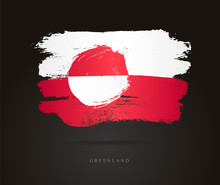 Flag Of Greenland. Abstract Concept