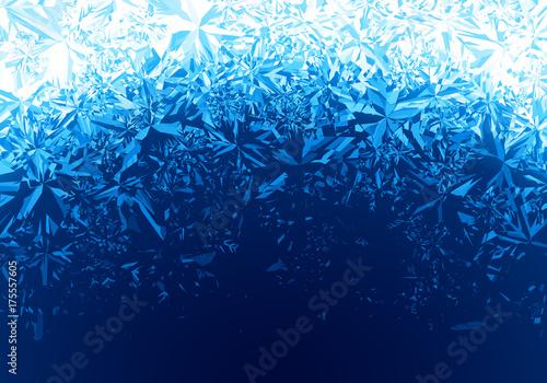 Winter blue ice frost background Fototapeta