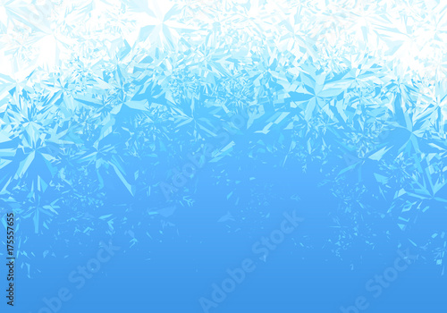Fotografija Winter blue ice frost background