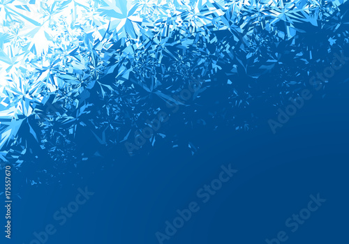Photo  Winter blue ice frost background