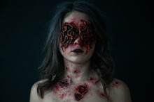 Girl With Realistic Sores And ...