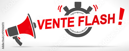 Obraz vente flash chronomètre mégaphone - fototapety do salonu