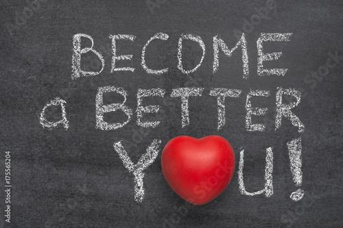 become a better you heart Wallpaper Mural