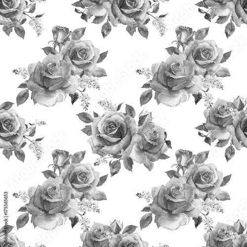 czarno-bialy-akwarelowy-wzor-symetrycznych-kwiatow