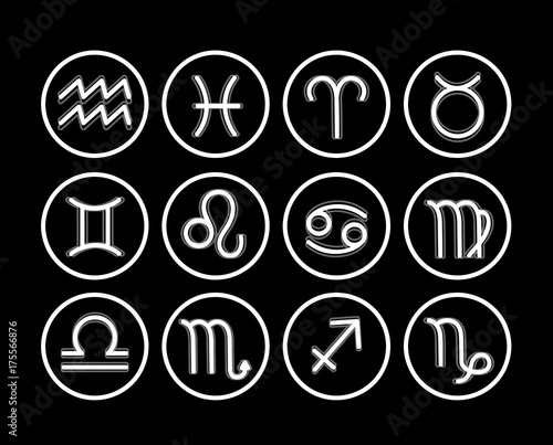 Zodiac Icon Collection Sacred Symbols Set Buy This Stock Vector