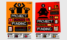 Project Crowd Funding Poster With Event Time And Details Template