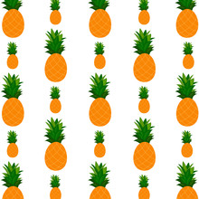 Pattern Background With  Pineapple