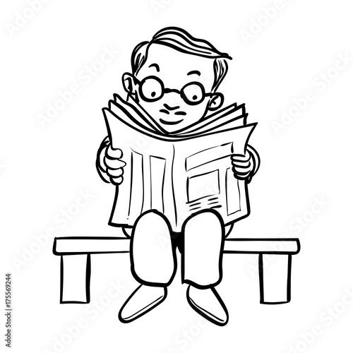 Cartoon Guy Reading Newspaper Free Download Playapk Co