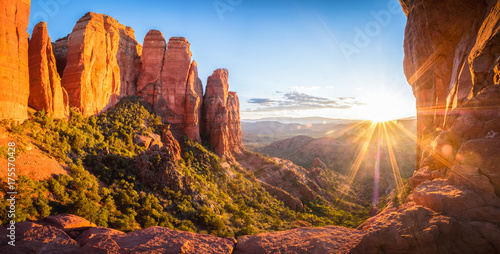 sunset in Sedona