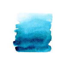 Blue Gradient Hand Drawn Watercolor Abstract Brush Stroke Vector Background