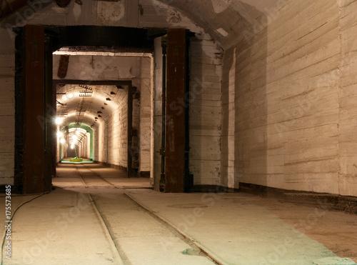 Photo  Abandoned underground tunnels and shelters