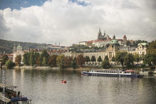 Plakat rzeka w Pradze