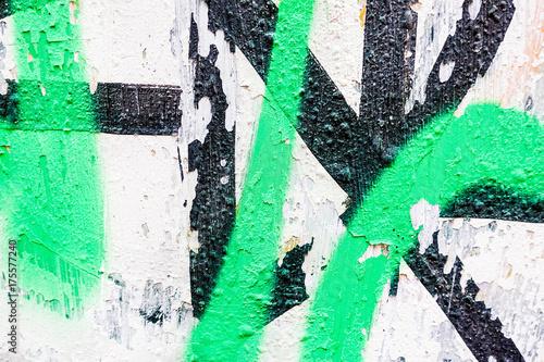 Fototapeta Wyszczególnia graffiti na ściennej teksturze i tle
