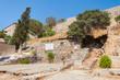 Ruins of the former leper colony. Island of Spinalonga (Kalydon), Crete, Greece