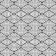 Decorative black and white seamless pattern