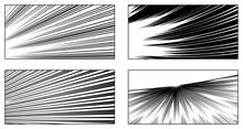 コミック背景 スピード線の詰め合わせ