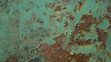 Old Paint Peeling On A Rusty M...