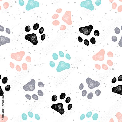 Obraz Dog paw print vector Vexture - fototapety do salonu